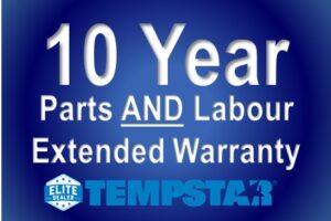10 Year Parts & Labour Warranty