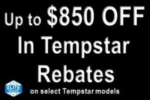 Up to $850 Off Tempstar Rebates
